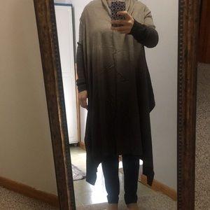 Silk cashmere blend cardigan shawl collar